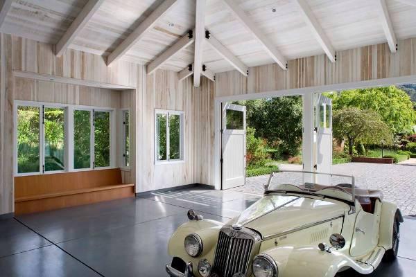 grey concrete garage flooring
