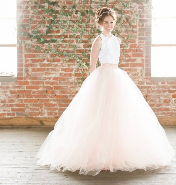 two piece wedding skirt dress