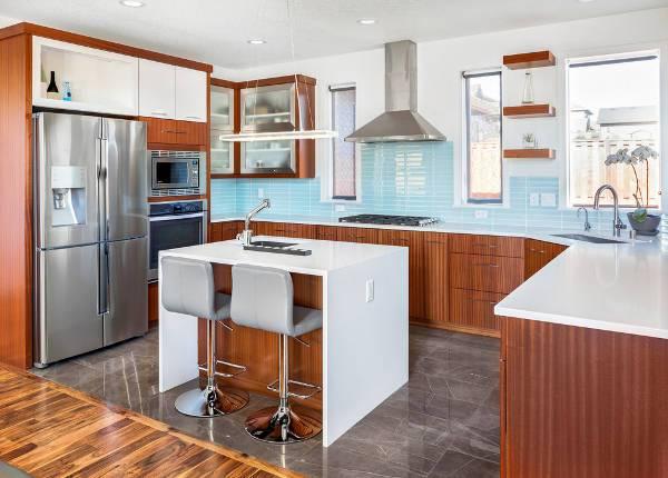 small modern kitchen island