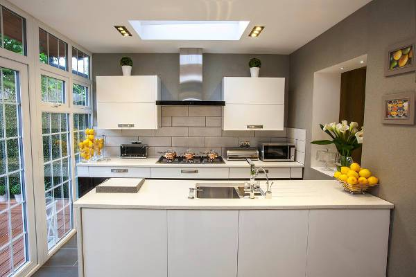 small contemporary galley kitchen