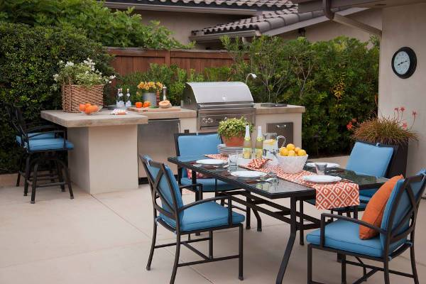small outdoor patio kitchen