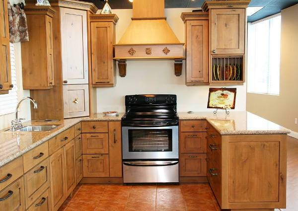 small rustic wood kitchen