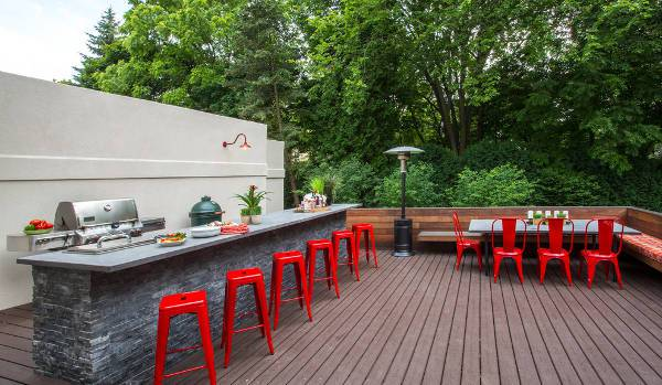 modern outdoor kitchen bar stools