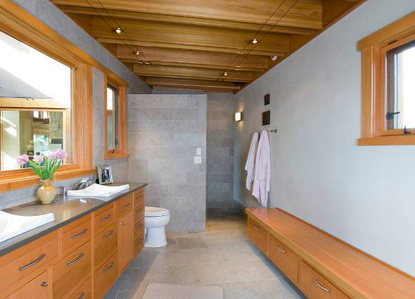 simple doorless shower stall