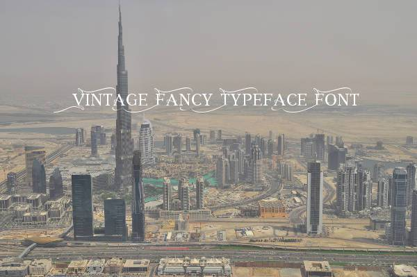 Vintage Fancy Typeface Font