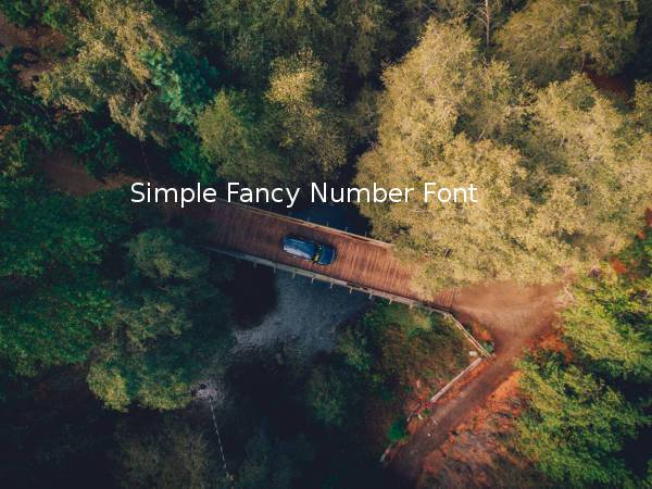 Simple Fancy Number Font