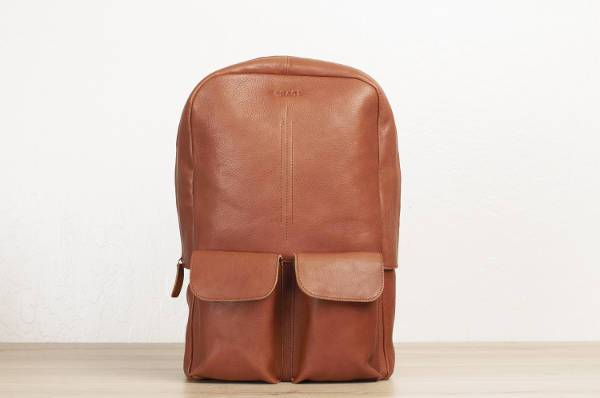 leather laptop backpack for men
