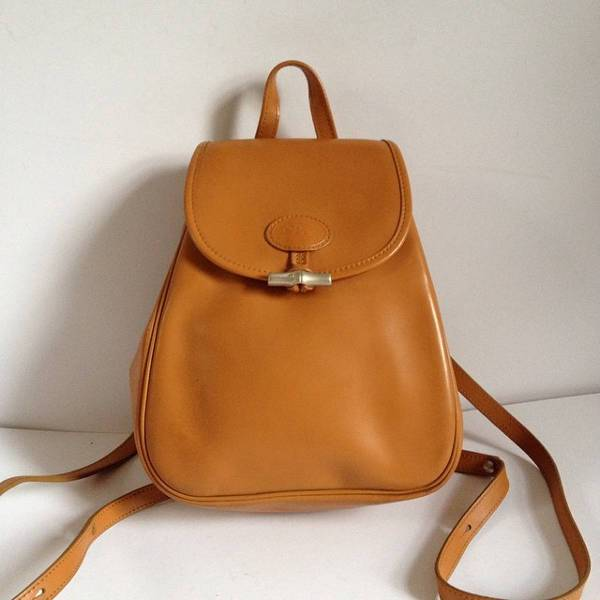 trendy small leather backpack