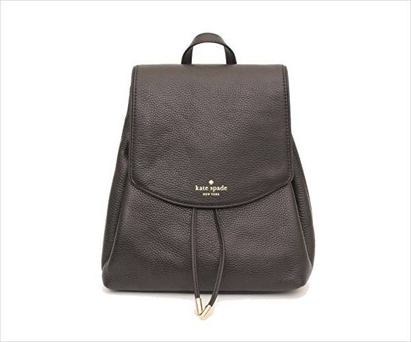 brezzy leather drawstring backpack