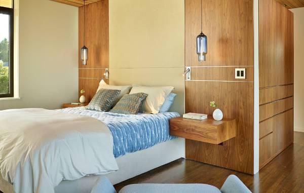 wall mount floating nightstand design