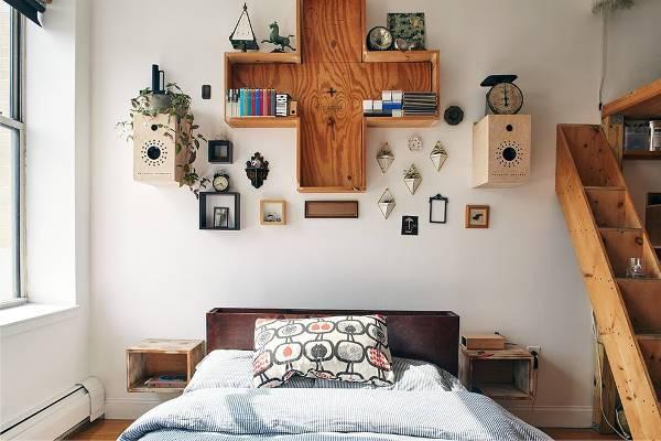 diy wooden nightstand idea