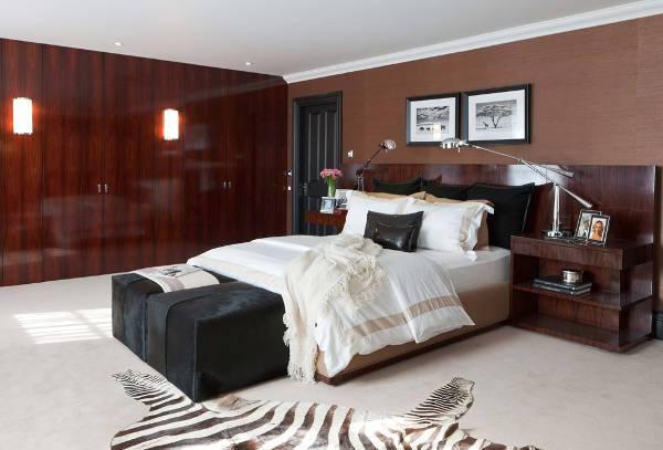 contemporary bedroom nightstand idea