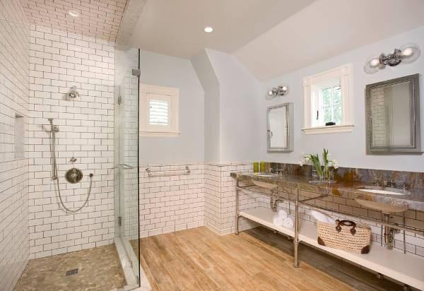 white subway tiles for bathroom