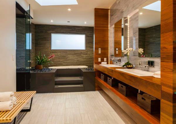contemporary small spa bathroom
