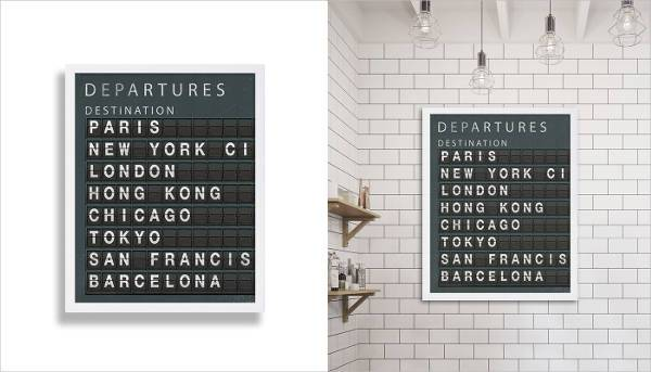 destinations board art print
