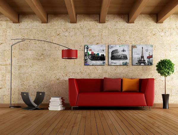 3 piece travel themed wall art