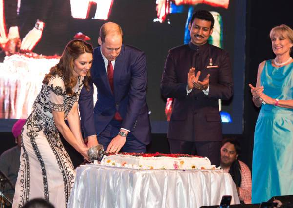 Celebrating The Queen's birthday in New Delhi in 2016