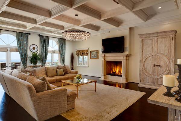 large living room crystal chandelier