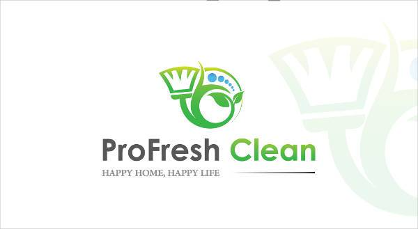 Creative Cleaning Business Logo