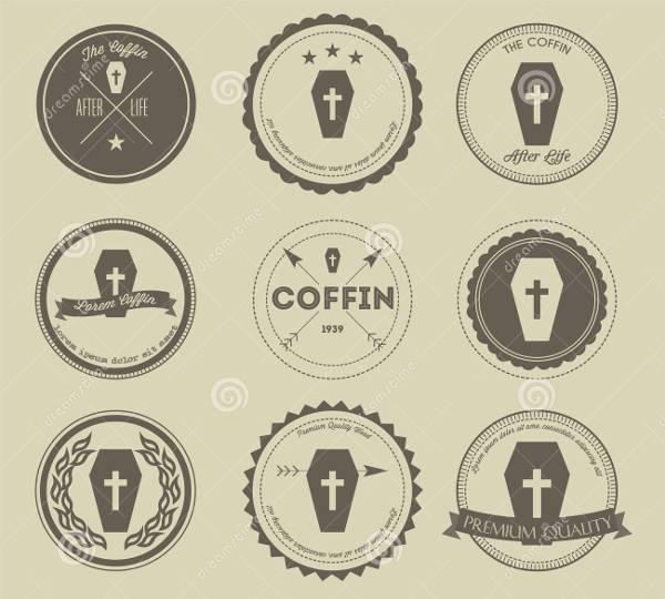 Vintage Coffin Business Logo