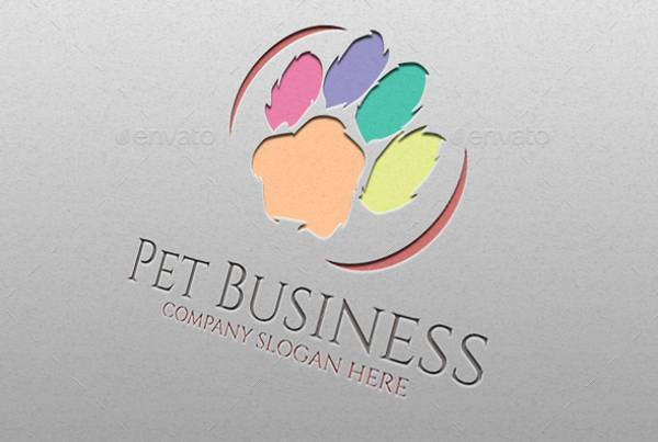 cute pet business logo
