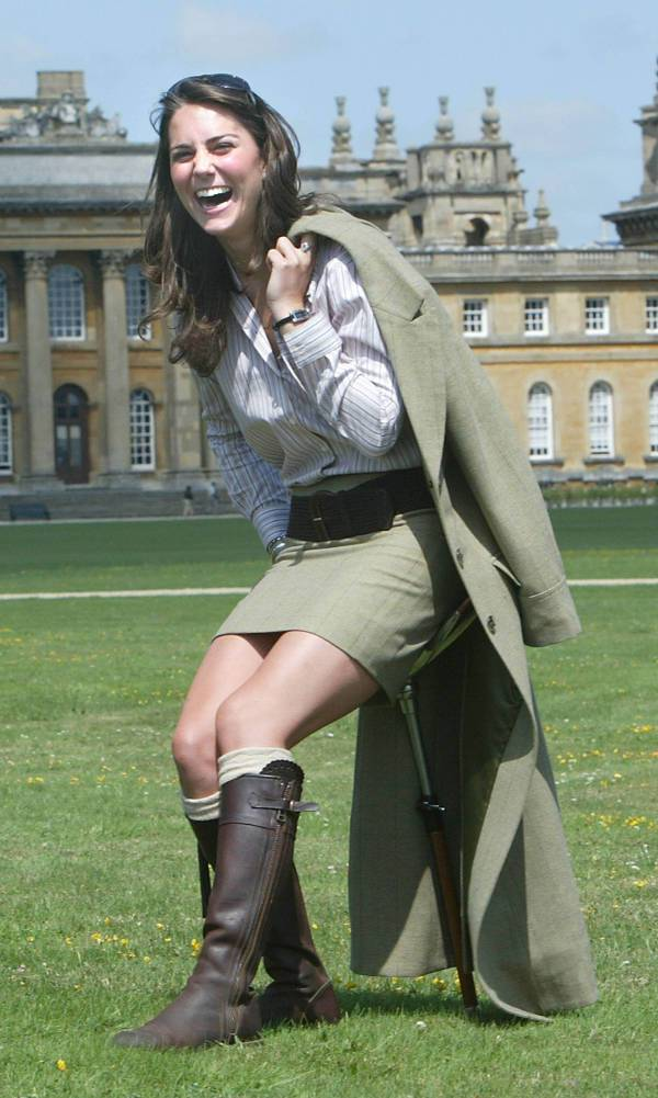 Posing Outside Blenheim Palace in 2004