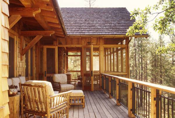rustic wood deck floor
