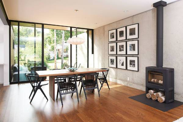 modern wood floor for dining room