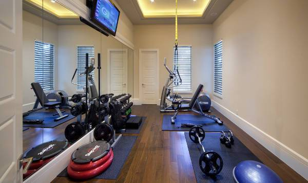 home gym wood flooring