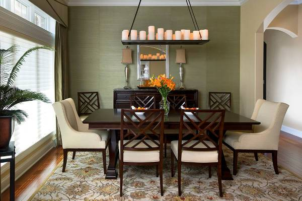 Dark Wood Dining Room Chairs wood round table 4 chairs rug buffet Dark Wood Dining Room Chairs