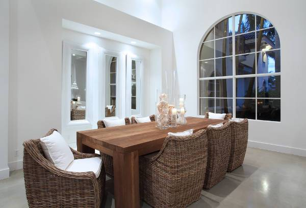 modern wicker dining room chairs