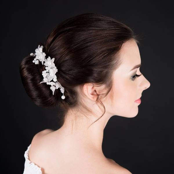 simple bridal updo hairstyle