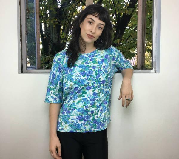 vintage floral pocket t shirt
