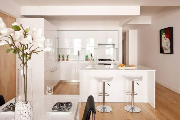 Modern White Gloss Kitchen Cabinets