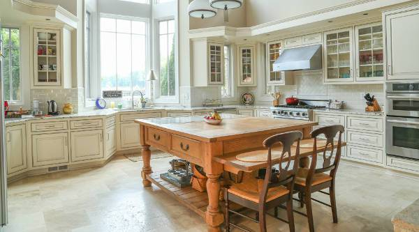 rustic white wood kitchen cabinets