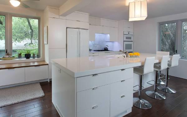 Modern White Kitchen Island Cabinets