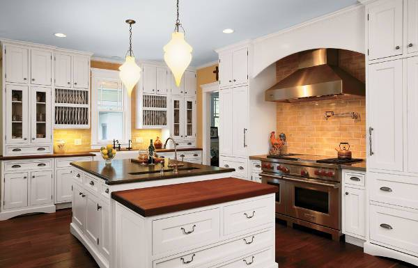 cool vintage white kitchen cabinets