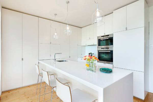 contemporary modern white kitchen cabinets