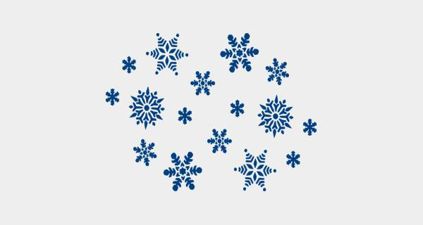 free blue snowflake clipart