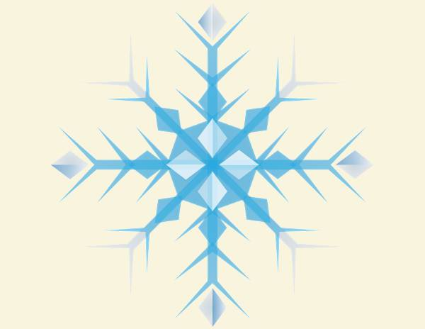 blue snowflake clipart download