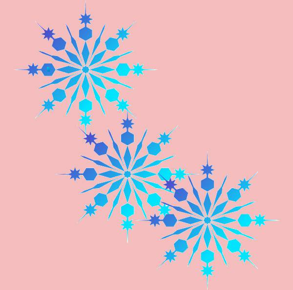 cool christmas snowflake clipart