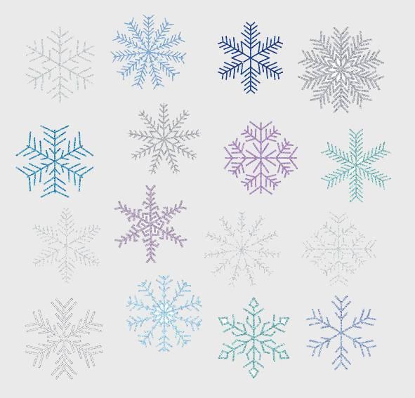 frozen glitter snowflake clipart