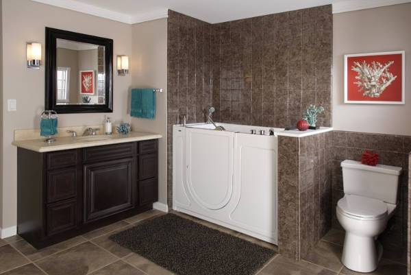 traditional ceramic tile bathroom