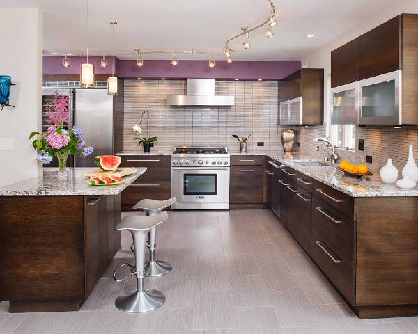 modern kitchen ceramic tile