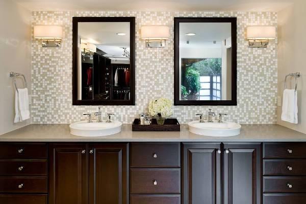 glass mosaic vanity backsplash tile