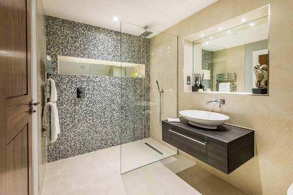 bathroom shower mosaic tile