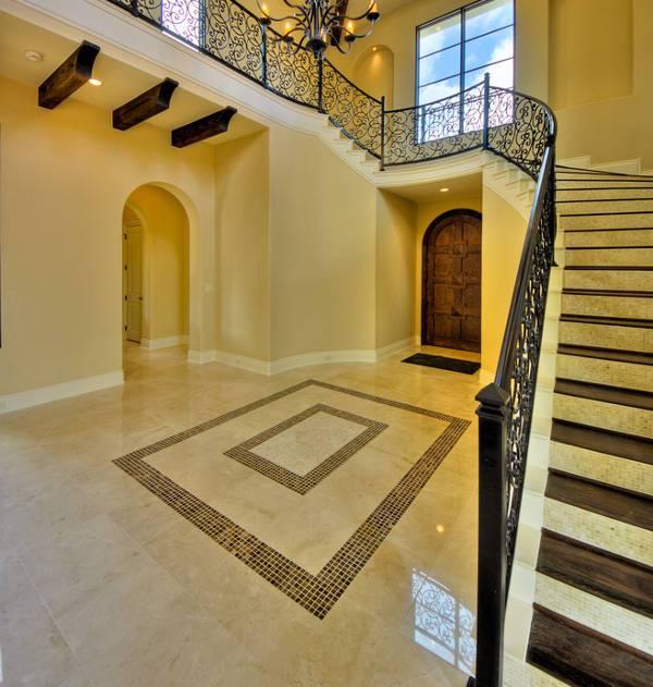 simple entryway mosaic tile