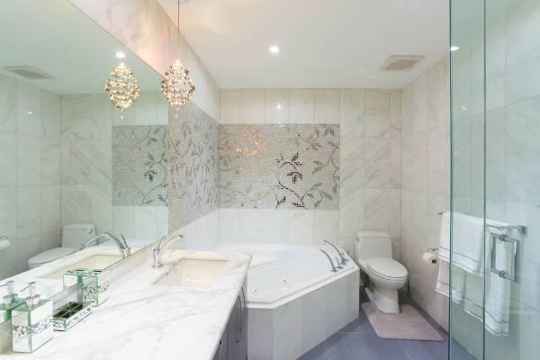classy floral mosaic tile