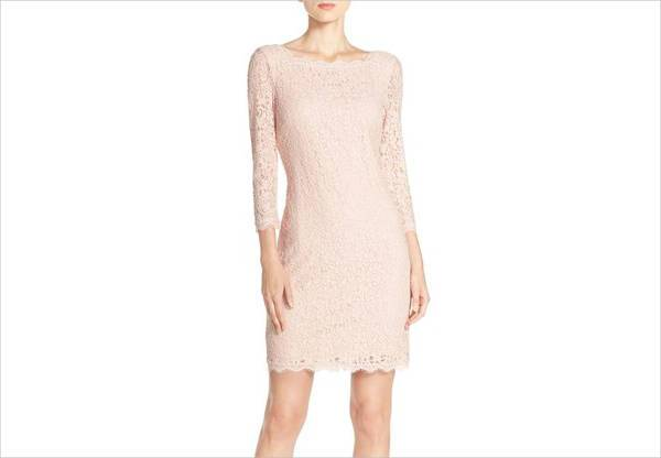 casual lace sheath dress