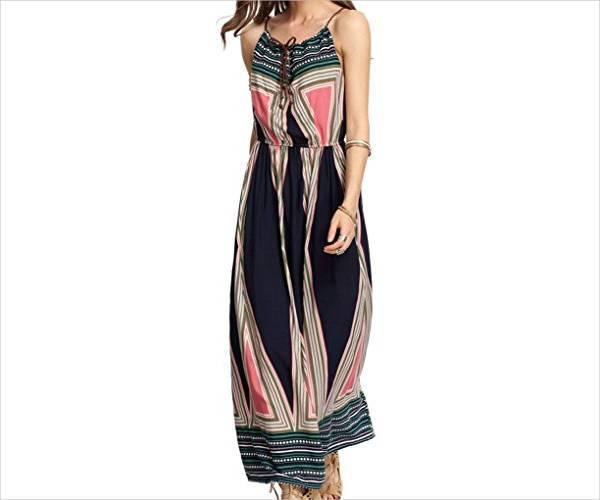 casual maxi beach dress